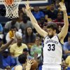 Memphis\' Marc Gasol (33) defends Oklahoma City\'s Nick Collison (4) during Game 3 in the second round of the NBA basketball playoffs between the Oklahoma City Thunder and Memphis Grizzles at the FedExForum in Memphis, Tenn., Saturday, May 11, 2013. Memphis won, 87-81. Photo by Nate Billings, The Oklahoman