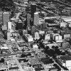 OKLAHOMA CITY / SKY LINE / OKLAHOMA / AERIAL VIEWS / AERIAL PHOTOGRAPHY / AIR VIEWS: DOWNTOWN OKC. Photo dated 08/15/1975 and unpublished.