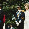 FILE - In this May 14, 1984, file photo, Michael Jackson , center, stands with President Ronald Reagan, left, and first lady Nancy Reagan on the south lawn of the White House prior to receiving an award from the president for his contribution to the drunk driving awareness program. (AP Photo/Scott Stewart, file) ORG XMIT: NYET706
