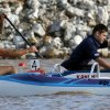Stephen Evans, front, and Greg Crouse during a men\'s paracanoe heat during the USA Canoe/Kayak Paracanoe World Championship Team Trial on the Oklahoma River in Oklahoma City, Friday, April 20, 2012. Crouse finished first while Evans came in second in the heat. Photo by Nate Billings, The Oklahoman