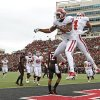Oklahoma\'s Justin Brown (19) celebrates with Kenny Stills (4) after Brown scored a touchdown during a college football game between the University of Oklahoma (OU) and Texas Tech University at Jones AT&T Stadium in Lubbock, Texas, Saturday, Oct. 6, 2012. Photo by Bryan Terry, The Oklahoman