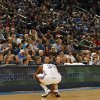 The Thunder\'s Kevin Durant (35) reacts after hitting his head on the court in the first half during the NBA basketball game between the Oklahoma City Thunder and the Memphis Grizzlies at the Oklahoma City Arena on Tuesday, Feb. 8, 2011, Oklahoma City, Okla. Photo by Chris Landsberger, The Oklahoman