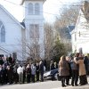 Mourners exit St. Mary Of The Assumption Church after the funeral of Anne Marie Murphy on Thursday, Dec. 20, 2012 in Katonah, N.Y. Murphy was killed when Adam Lanza, walked into Sandy Hook Elementary School in Newtown, Conn., Dec. 14, and opened fire, killing 26, including 20 children, before killing himself. (AP Photo/The Stamford Advocate, Lindsay Niegelberg) MANDATORY CREDIT