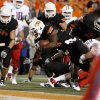 Oklahoma State\'s Jeremy Smith scores a touchdown against Arizona on Thursday. PHOTO BY BRYAN TERRY, The Oklahoman