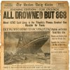 """In this March. 6, 2012 photo provided by Bonhams Auction House, the front page of the April 16, 1912 evening edition of the Boston Globe, detailing the Titanic Disaster is shown. The page is among a collection of newspapers covering the event that will be among the artifacts put up on the block by Bonhams during their """"R.M.S. Titanic: 100 Years of Fact and Fiction"""" auction in New York on Sunday, April 15, 2012. (AP Photo/Bonhams Auction House)"""