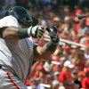 Photo - San Francisco Giants' Pablo Sandoval loses his bat while swinging during the sixth inning of a baseball game against the St. Louis Cardinals, Sunday, June 1, 2014, in St. Louis. (AP Photo/Jeff Roberson)