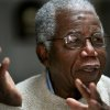 Photo - FILE - Chinua Achebe, Nigerian-born novelist and poet speaks about his works and his life at his home on the campus of Bard College in Annandale-on-Hudson, New York where he is a professor, in this Jan. 22, 2008 file photo. Achebe, who wrote the classic
