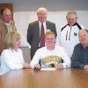 Jordan Wynn, a senior at Norman North High School, signs a National Letter of Intent to play golf at the University of Central Oklahoma. Seated with Jordan are his parents, Mike and Patti Wynn; standing are (LtoR) Steve Ball, PGA Master Professional and golf instructor; Jerry Winkle, NNHS principal; and Dennis Etter, NNHS golf coach. Community Photo By: UCO Submitted By: Lindsay, Edmond