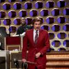 Photo -   In this March 28, 2012 photo released by Team Coco, Will Ferrell portrays broadcaster Ron Burgundy during an appearance on