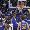 Memphis Grizzlies\' Zach Randolph (50) makes contact with Golden State Warriors\' Brandon Rush (4) during the first half of an NBA basketball game Friday, Nov. 2, 2012, in Oakland, Calif. Rush left the game with an injured knee after this play. (AP Photo/Ben Margot)