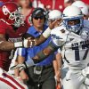 OU\'s Tony Jefferson chases down Asher Clark of Air Force during the second half of the college football gamebetween the University of Oklahoma Sooners (OU) and Air Force (AF) at the Gaylord Family-Oklahoma Memorial Stadium on Saturday, Sept. 18, 2010, in Norman, Okla. Photo by Bryan Terry, The Oklahoman