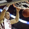 Oklahoma\'s Taylor Griffin dunks the ball against Syracuse during the second half of the NCAA Men\'s Basketball Regional at the FedEx Forum on Friday, March 27, 2009, in Memphis, Tenn. PHOTO BY CHRIS LANDSBERGER, THE OKLAHOMAN