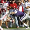 Oklahoma Sooners\' Ryan Broyles (85) runs down the sideline past Kansas State Wildcats\' Tysyn Hartman (2) for a touchdown during the college football game between the University of Oklahoma Sooners (OU) and the Kansas State University Wildcats (KSU) at Bill Snyder Family Stadium on Sunday, Oct. 30, 2011. in Manhattan, Kan. Photo by Chris Landsberger, The Oklahoman ORG XMIT: KOD