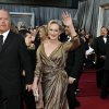 Meryl Streep arrives before the 84th Academy Awards on Sunday, Feb. 26, 2012, in the Hollywood section of Los Angeles. (AP Photo/Matt Sayles) ORG XMIT: KDK