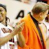 OSU seniors Danielle Green, left, and Maria Cordero stand with head coach Kurt Budke after being recognized during Senior Night following the women\'s college basketball game between Oklahoma State University and Texas Tech University at Gallagher-Iba Arena in Stillwater, Okla., Saturday, March 1, 2008. BY MATT STRASEN, THE OKLAHOMAN