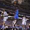 Oklahoma City\'s Nazr Mohammed (8) goes to the basket during Game 4 of the first round in the NBA playoffs between the Oklahoma City Thunder and the Dallas Mavericks at American Airlines Center in Dallas, Saturday, May 5, 2012. Oklahoma City won 103-97. Photo by Bryan Terry, The Oklahoman