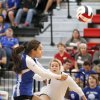 GIRLS HIGH SCHOOL VOLLEYBALL: Mount St. Mary\'s Yarelie Ruelas volleys the ball during the first round of the Class 4A state volleyball tournament between Mt. St. Mary\'s High School and Catoosa High School at Westmoore High School in Moore, OK, Friday, October 11, 2013, Photo by Paul Hellstern, The Oklahoman