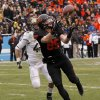 Oklahoma State\'s Blake Webb (85) catches a touchdown pass in front Purdue\'s Landon Feichter (44) during the Heart of Dallas Bowl football game between Oklahoma State University and Purdue University at the Cotton Bowl in Dallas, Tuesday, Jan. 1, 2013. Oklahoma State won 58-14. Photo by Bryan Terry, The Oklahoman