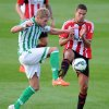 Photo - Sunderland's Jack Rodwell, right, and Real Betis Damien Perquis in action during the pre-season friendly at Heritage Park, Bishop Auckland, England, Thursday Aug. 7, 2014. (AP Photo / Owen Humphreys, PA) UNITED KINGDOM OUT - NO SALES - NO ARCHIVES