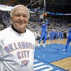 Photo - Former Oklahoma City Mayor Ron Norick during Game 6 of the Western Conference Finals between the Oklahoma City Thunder and the San Antonio Spurs in the NBA playoffs at the Chesapeake Energy Arena.  CHRIS LANDSBERGER - CHRIS LANDSBERGER