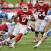 Photo - Indiana running back Tevin Coleman (6) carries tha ball against Indiana Indiana State during an NCAA college football game in Bloomington, Ind., Saturday, Aug. 30, 2014.  Indiana beat Indiana State 28-10. (AP Photo/The Herald-Times, )Chris Howell)