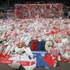 Photo - FILE- In this file photo dated April 17, 1989, floral tributes are placed by soccer fans at the 'Kop' end of Anfield Stadium in Liverpool, England, on April 17, 1989, after the Hillsborough April 15 tragedy when fans surged forward during the Cup semi-final between Liverpool and Nottingham Forest at Hillsborough Stadium killing 96 people. After years of campaigning to expose alleged wrongdoing by the authorities, new inquests into Britain's worst sports disaster are beginning Monday March 31, 2014, with the families of the 96 Liverpool fans crushed to death at Hillsborough seeking verdicts of unlawful killing. (AP Photo/ Peter Kemp, FILE)
