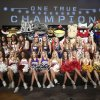 University cheerleaders and mascots poses for a photo on the main stage at the Big 12 Conference NCAA college football media days in Dallas, Tuesday, July 22, 2014. (AP Photo)