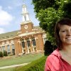Photo - LANDSCAPE ARCHITECTURE / LANDSCAPE ARCHITECT: Oklahoma State University graduate Jessica Waugh poses for a photo on the OSU campus in Stillwater, Okla., Thursday, May 8, 2008. Waugh was a landscaping major at OSU. BY MATT STRASEN, THE OKLAHOMAN ORG XMIT: KOD