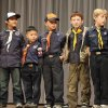 """Cub Scouts from Pack 543 appear on stage at the Boy Scouts of America annual fundraising """"Character Counts"""" breakfast this month. Photo by David McDaniel, The Oklahoman"""