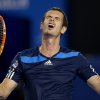 Photo - Andy Murray of Britain reacts during his second round match against Vincent Millot of France at the Australian Open tennis championship in Melbourne, Australia, Thursday, Jan. 16, 2014.(AP Photo/Aaron Favila)