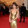 """Lea Michele attends The Metropolitan Museum of Art\'s Costume Institute benefit gala celebrating """"Charles James: Beyond Fashion"""" on Monday, May 5, 2014, in New York. (Photo by Evan Agostini/Invision/AP)"""