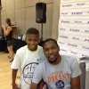 Eight-year-old Jay Fair meets with Kevin Durant. PHOTO PROVIDED