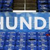 Fans sits among the sea of Thunder t-shirts before Game 3 of the Western Conference Finals in the NBA playoffs between the Oklahoma City Thunder and the San Antonio Spurs at Chesapeake Energy Arena in Oklahoma City, Sunday, May 25, 2014. Photo by Nate Billings, The Oklahoman