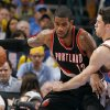 Oklahoma City\'s Nick Collison (4) defends against Portland \'s LaMarcus Aldridge (12) during the NBA basketball game between the Oklahoma City Thunder and the Portland Trail Blazers at Chesapeake Energy Arena in Oklahoma City, Sunday, March 18, 2012. Photo by Sarah Phipps, The Oklahoman.