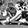 OU quarterback Steve Davis dives into the end zone during the Sooners\' 48-20 win over Kansas in 1973. PHOTO BY HANK MOONEY, The Oklahoman Archives