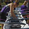 Kansas State\'s Amanda Weishaar makes last minute adjustments before competing with her team during the Oklahoma Regatta Festival at the Oklahoma River on Saturday, Oct. 1, 2011, in Oklahoma City, Okla. Photo by Chris Landsberger, The Oklahoman