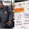 This combination of Associated Press file photos shows, left, mail carrier Mike Gillis delivering mail in 2011, in Montpelier, Vt., and right, Microsoft Outlook being demonstrated on a desktop computer in 2013, in New York. The number of