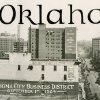 HISTORIC EARLY DAYS / OKLAHOMA CITY, OK / SKYLINE / PANORAMA: Oklahoma City Business District, September 1st, 1924. Original photo dated 09/01/1924.