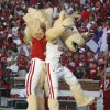 Mascots Boomer and Sooner participate in the pregame activities before the college football game between the University of Oklahoma Sooners (OU) and the Iowa State Cyclones (ISU) at the Glaylord Family-Oklahoma Memorial Stadium on Saturday, Oct. 16, 2010, in Norman, Okla. Photo by Steve Sisney, The Oklahoman