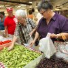 Jay Hensley, Norman; Shirley Sides, and Mary Morgan, both from Moore; shop for produce at the Farmer\'s Market at the Cleveland County Fairgrounds on Saturday, July 16, 2011, in Norman, Okla. Photo by Steve Sisney, The Oklahoman