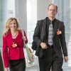 Photo - In this picture taken Thursday evening July 3, 2014, former NSA employee Thomas Drake, right, and his lawyer Jesselyn Radack arrive at the parliamentary NSAinvestigation committee   in Berlin, Germany,  German lawmakers began hearing expert testimony for a probe into the activities of foreign intelligence agencies in Germany. The inquiry was sparked by reports based on documents leaked by former NSA contractor Edward Snowden, which showed that German citizens, including Chancellor Angela Merkel, were targeted by U.S. intelligence.   (AP Photo/dpa,Hannibal Hanschke)