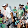 Photo - Angel Cabrera, reacts on the 18th hole after just missing s birdie putt during the final round of the Greenbrier Classic golf tournament at the Greenbrier Resort in White Sulphur Springs, W.Va., Sunday, July 6, 2014.  (AP Photo/Chris Tilley)