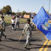 Air Force members march in a Veterans Day parade on SE 15th St. in Midwest City, OK, Monday, November 11, 2013, Photo by Paul Hellstern, The Oklahoman