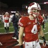 Wisconsin\'s Jared Abbrederis walks off the field after losing 21-14 in overtime to Ohio State in an NCAA college football game Saturday, Nov. 17, 2012, in Madison, Wis. (AP Photo/Andy Manis)