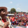 In this photo released by Miraflores Press Office, Venezuela\'s acting President Nicolas Maduro looks up during a campaign rally in San Fernando de Apure, Venezuela, Sunday, April 7, 2013. Maduro is running againt opossition candidate Henrique Capriles to replace Venezuela\'s late President Hugo Chavez on April 14. (AP Photo/Miraflores Press Office/Marcelo Garcia)