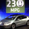 The Chevy Volt\'s 230 composite MPG rating was announced at GM\'s Tech Center in Warren, Mich. during a news conference Tuesday, Aug. 11, 2009. (AP Photo/Gary Malerba)