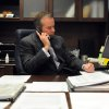Marvin McFadyen, Board of Elections director for New Hanover County, makes a call from his office in Wilmington, N.C., Tuesday, Nov. 6, 2012. (AP Photo/The Star-News, Paul Stephen)