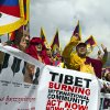 Exiled Tibetan Buddhist monks shout slogans during a protest march in Dharmsala, India, as they mark the anniversary of a failed 1959 uprising against Chinese rule, Sunday, March 10, 2013. Police in India prevented a Tibetan man from setting himself on fire as hundreds of Tibetan exiles gathered to mark the anniversary in Dharmsala, the home of Tibet\'s government in exile. (AP Photo/ Ashwini Bhatia)