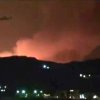 In this image taken from video obtained from the Ugarit News, which has been authenticated based on its contents and other AP reporting, smoke and fire fill the the skyline over Damascus, Syria, early Sunday, May 5, 2013 after an Israeli airstrike. Israeli warplanes struck areas in and around the Syrian capital Sunday, setting off a series of explosions as they targeted a shipment of highly accurate, Iranian-made guided missiles believed to be on their way to Lebanon\'s Hezbollah militant group, officials and activists said. The attack, the second in three days, signaled a sharp escalation of Israel\'s involvement in Syria\'s bloody civil war. Syria\'s state media reported that Israeli missiles struck a military and scientific research center near the Syrian capital and caused casualties. (AP Photo/Ugarit News via AP video)