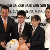 New University of Tennessee football coach Butch Jones, left, poses with his wife, Barb, and sons, Alex, 16, Adam, 12, and Andrew, 5, during an NCAA college football new conference on Friday, Dec. 7, 2012, in Knoxville, Tenn. The Vols\' introduced Jones on Friday as its successor to Derek Dooley, who was fired Nov. 18 after going 15-21 in three seasons. (AP Photo/Knoxville News Sentinel, Amy Smotherman Burgess)